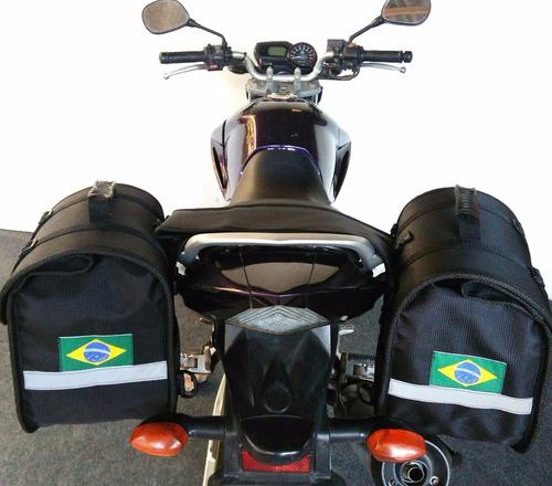 baú alforge moto esportivo fazer 250 cb300 next 250 twister
