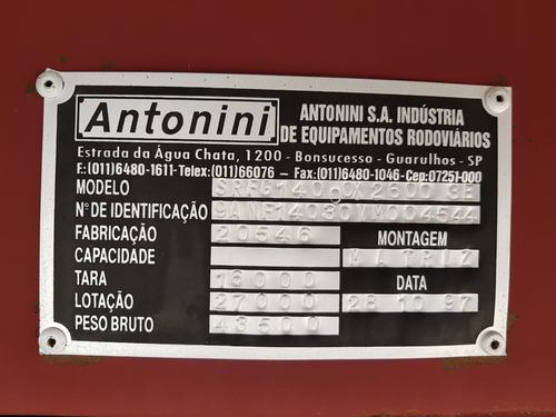 baú antonini 1997/98 (13.40mt/26palets/c/pneus) prata (1594