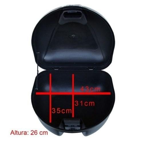bau bauleto glider 35 litros titan 150 lente vermelha
