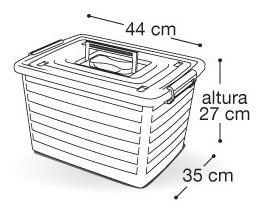 bau container caixa organizador grande 30 lts meninas rodas