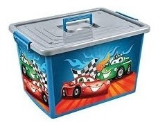 bau container caixa  utilidades grande 30 lts carros rodas a