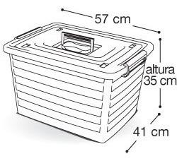 bau container grande 50 lts carro rodinhas caixa organizador