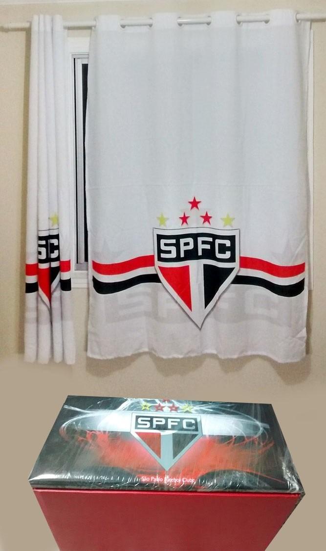 Baú + Cortina Do São Paulo Futebol Clube - R  255 b019d6fd567bf