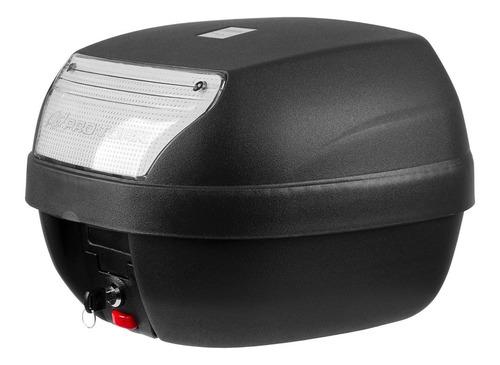 baú de moto 28 litros pro tork + bagageiro aço fan 160