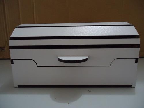 baú em mdf branco - corte a laser (ref.001)