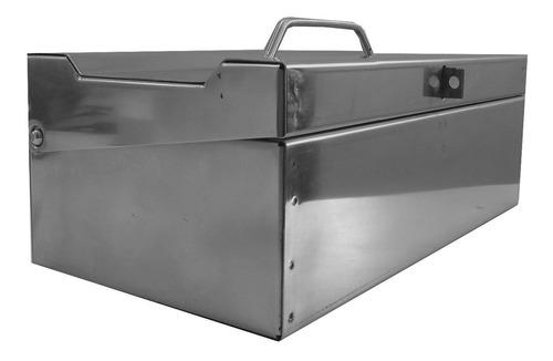 bau inox 50 cm para ferramentas caixa maleta em aço inox