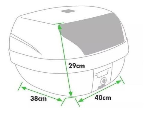 baú moto 28 litros bauleto pro tork smart box + base fixação