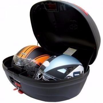 baú moto 45 litros pro tork + bagageiro fan 125/150 2014....