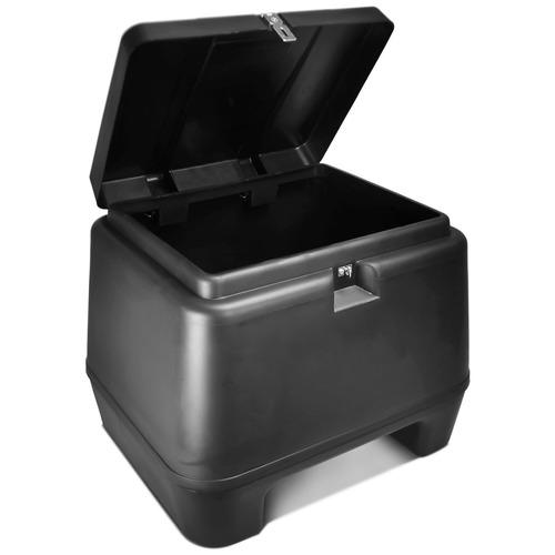 baú moto 80 litros pro tork + suporte baú