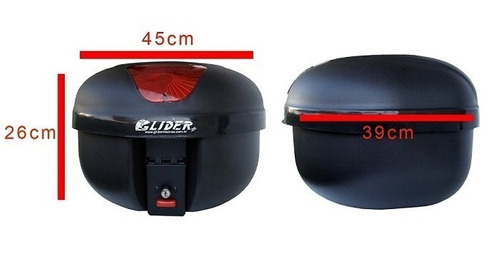 bau motos 35 litros glider removivel com refletor (bauleto)