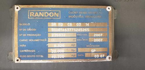 baú randon 2007/07 14.60mts./2.75alt./ 28palets/c/pneus 3912