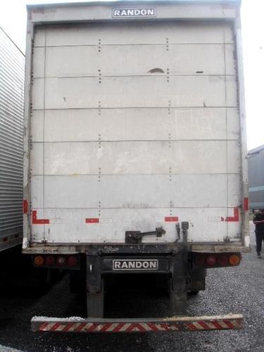 baú seco randon 30 pallets 2008 com 12 pneus novos