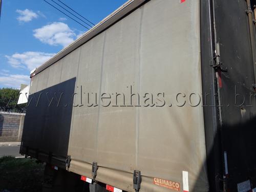 baú sider 5,60 mts piso chapeado p/ caminhão 3/4 ford vw mb