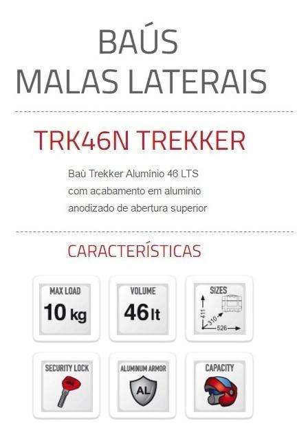 Bau Top Case Givi Trekker Trk46n 46l Padrao Aluminio R 2 165 00