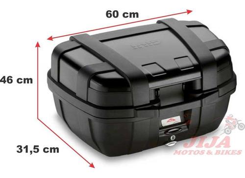 bau top case tiger 800 combo trekker 52, base 250 bagageiro