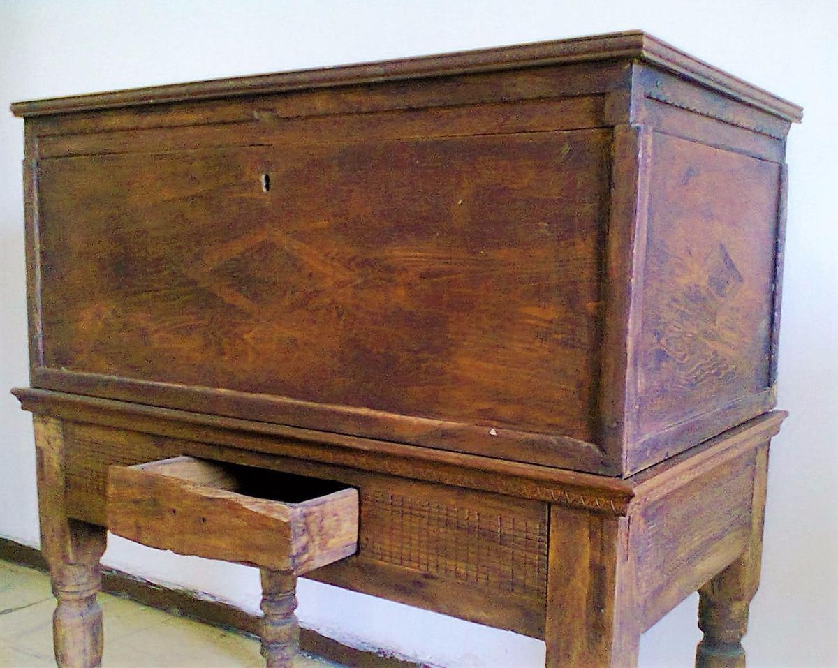 Ba l antig o de madera 4 en mercado libre - Baul de madera antiguo ...