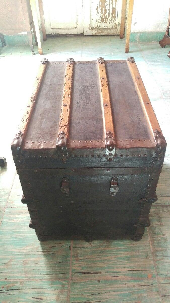 Ba l antiguo de madera con l mina env o gratis 3 000 - Baul de madera antiguo ...