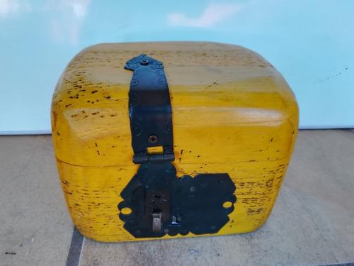 baúl cofre alajero de madera rustico vintage