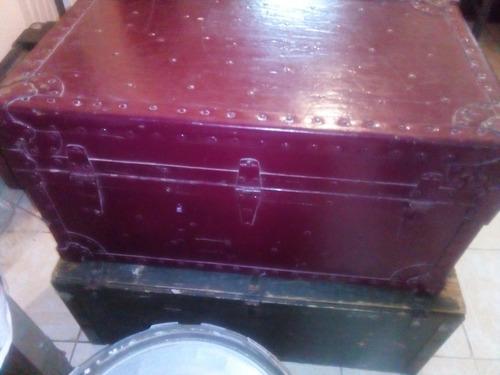 baul cofre antiguo vintage de los años 50 a 60