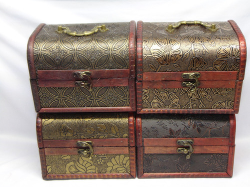 baúl cofre de madera con herraje 16 x 12.5 cm envío gratis