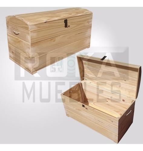 baul de madera de 0.80 pino tapa recta o bombe roka