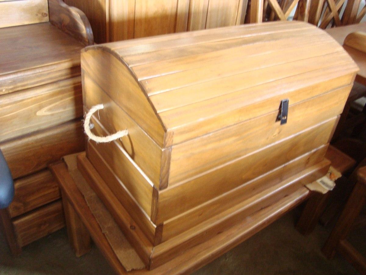Ba l de madera estilo gauchesco antiguo lustrado o - Baules antiguos de madera ...