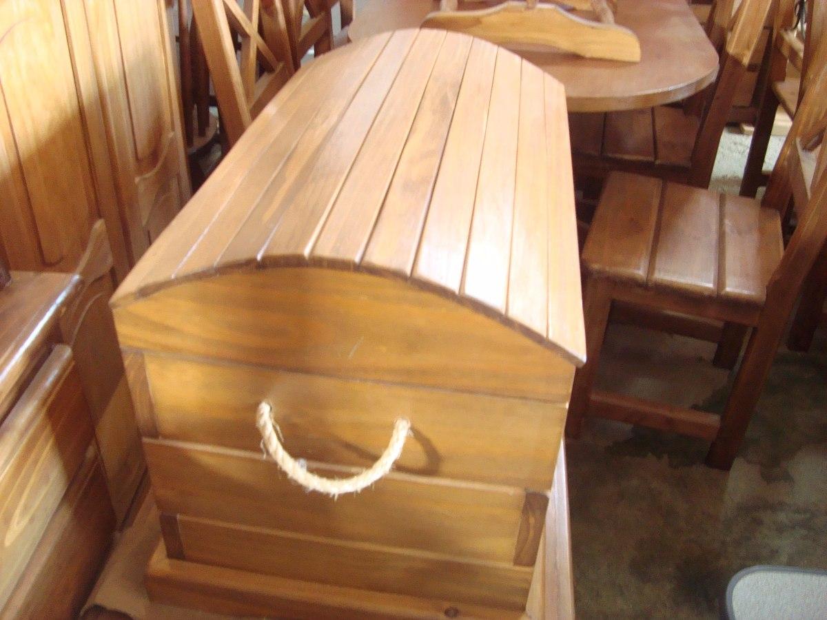 Ba l de madera estilo gauchesco antiguo lustrado o - Baul madera barato ...