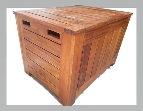 baúl de madera sólida de tzalam rústico