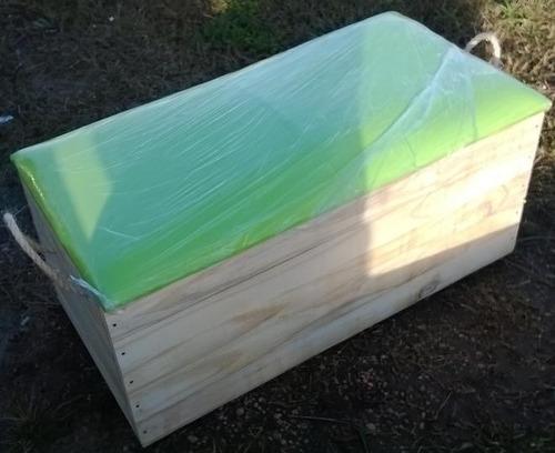 Baul de madera tapizados en el color que mas te guste - Baules para jardin ...
