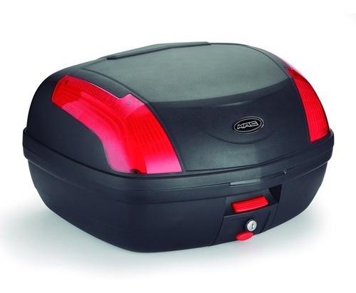 baul desmontable moto mac city 47 litros rojo devotobikes