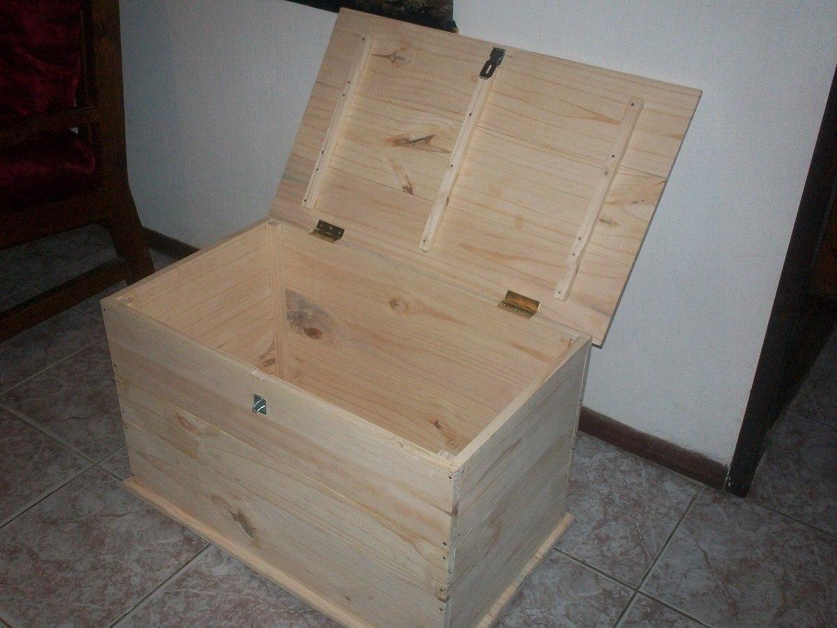 Baul en madera sin pintar en mercado libre - Como hacer un baul para guardar juguetes ...