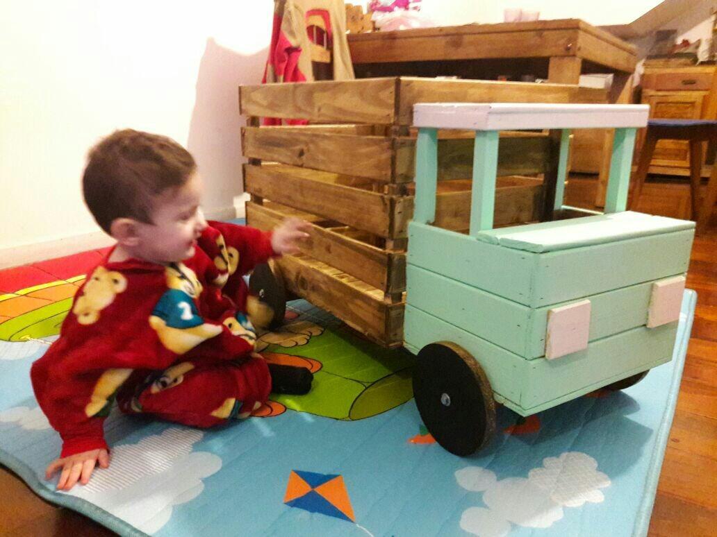 Baul Guarda Juguetes *camion*de Madera Pintados Infantil - $ 1.750 ...