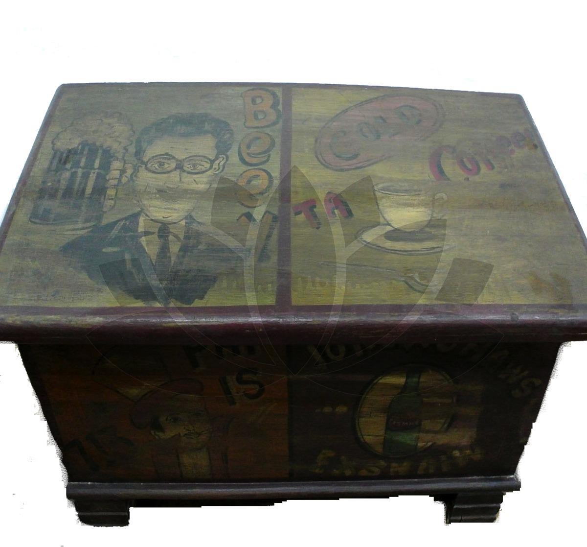 Baul Jaipur Originales Dibujos De Cada Lado - $ 4.500,00 en Mercado ...