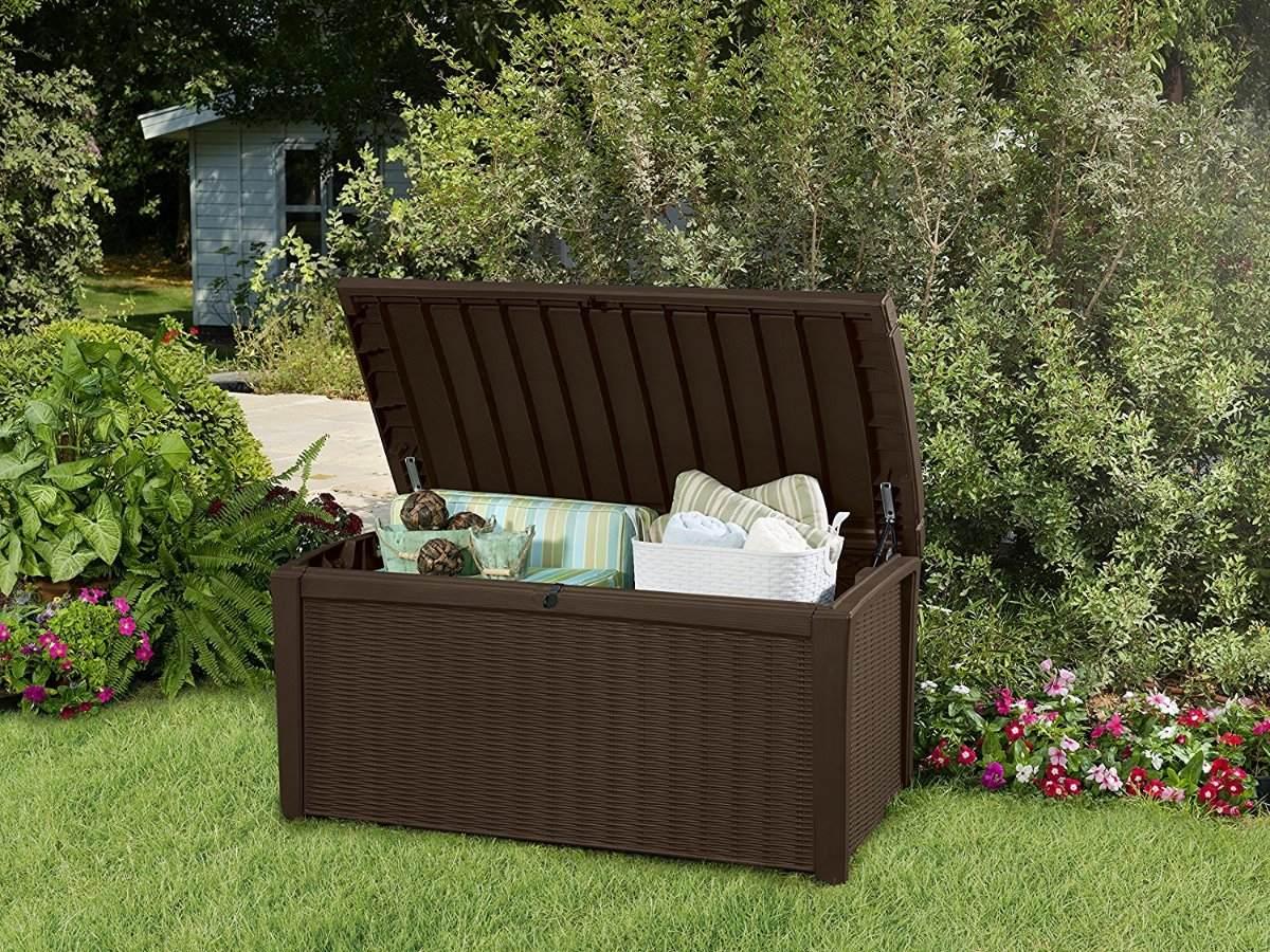 Baul keter 110 gallon area de guarda exteriores jardin 4 en mercado libre - Baul de jardin ...