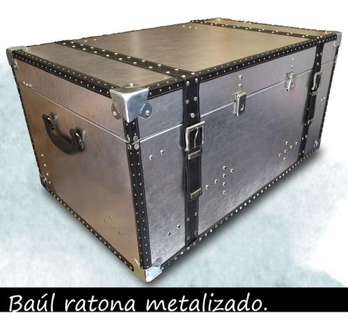 baúl mesa ratona metailzado diseño