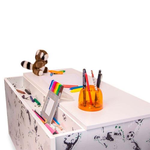 baúl organizador para juguetes de niños con diseño infantil