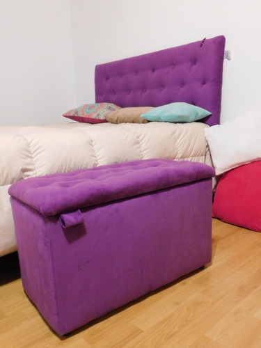 baul pie de cama o respaldo sommier 2 plazas p/colgar. desde