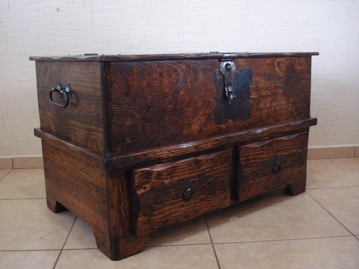 Ba l r stico mesa con cajones madera de pino apolillada 2 en mercado libre - Cajones de madera ...