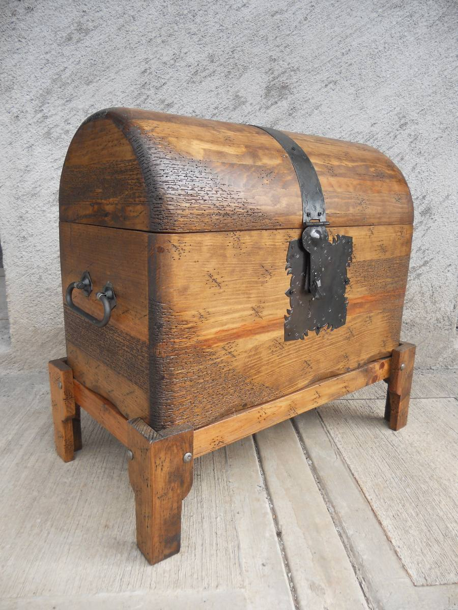 Ba l r stico pirata de concha madera de pino excelente - Botelleros de madera rusticos ...