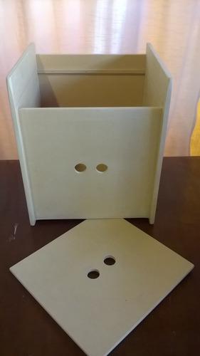 baul sillon cubo para niños - fibrofacil - crudo