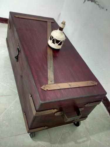 baul vintage mesa de centro tipo  antiguo