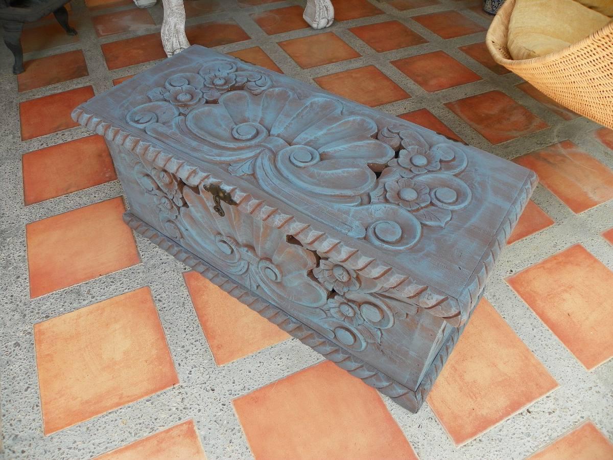 Ba l vintage tallado en madera y con decapado antiguo - Decapado sobre madera ...
