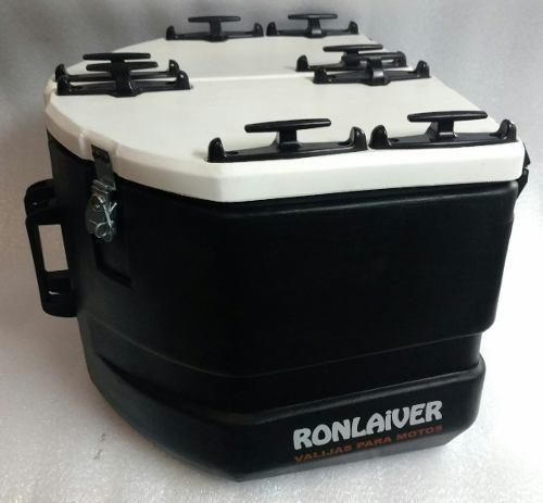 baules maletas ronlaiver laterales viajeras 31l + 1 bidón 5l