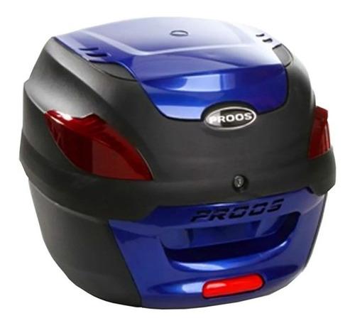 bauleto traseiro bau para bagageiro 41 litros proos - azul