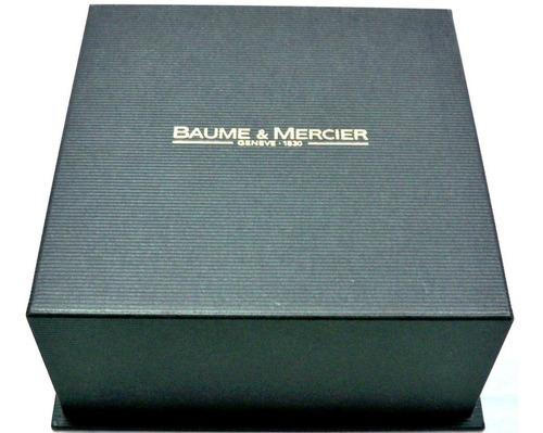 baume & mercier   hampton  - masculino - aço - quartz