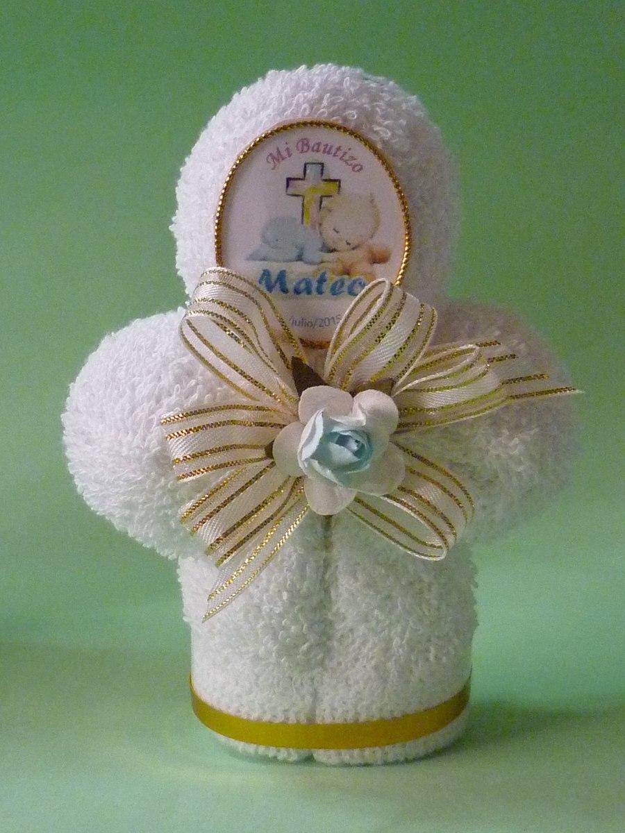Bautizo comuni n recuerdo o invitaci n cruz toalla facial - Como preparar una comunion en casa ...