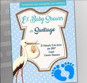 Bautizo Invitaciones Digitales Baby Shower Diseño Grafico