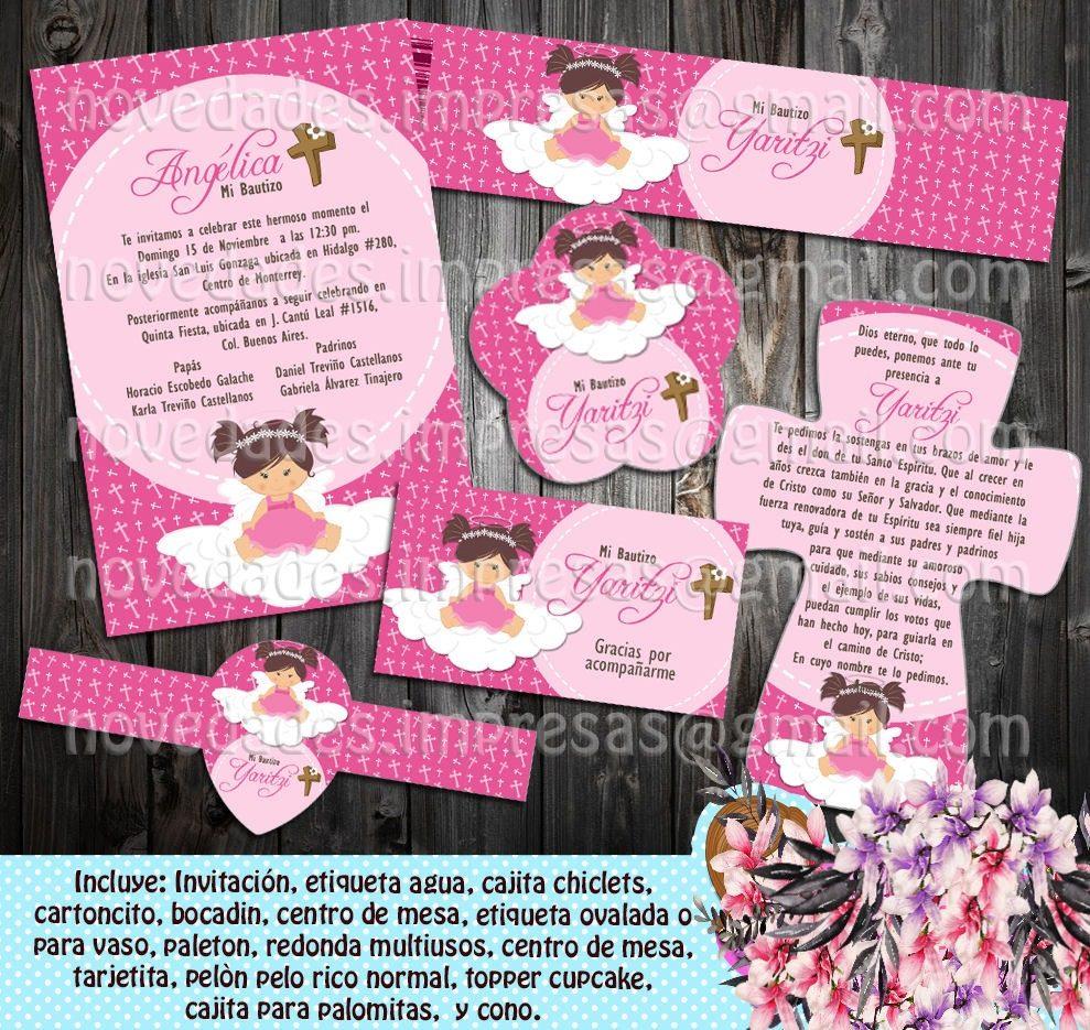Bautizo ni a kit imprimible mesa de dulces e invitacion 4 for Mesa de dulces para bautizo de nina