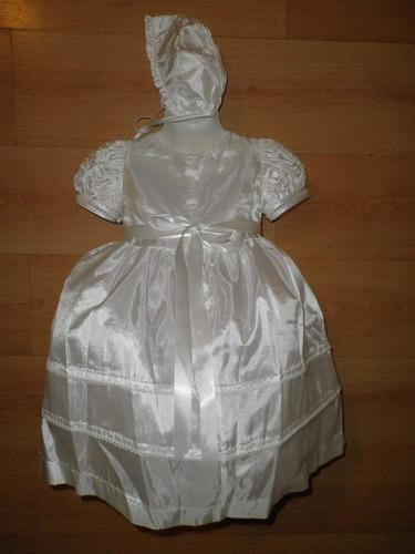 bautizo ropon vestido tafeta pedreria bordada bautismo