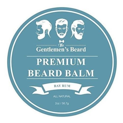 bay rum premium barba barba bálsamo de los caballeros - 2oz